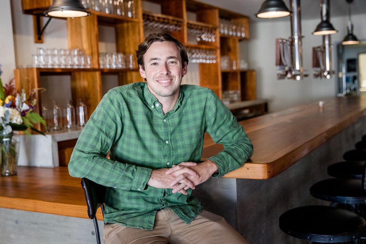 Owner Eli Gay at the Freret Beer Room