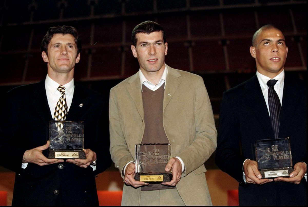 Davor Suker, Zinedine Zidane and Ronaldo