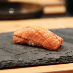 "Tasmanian King Salmon at Jewel Bako by <a href=""https://www.flickr.com/photos/jemappellemichelle/13049645103/in/pool-eater/"">jemappellemichelle"