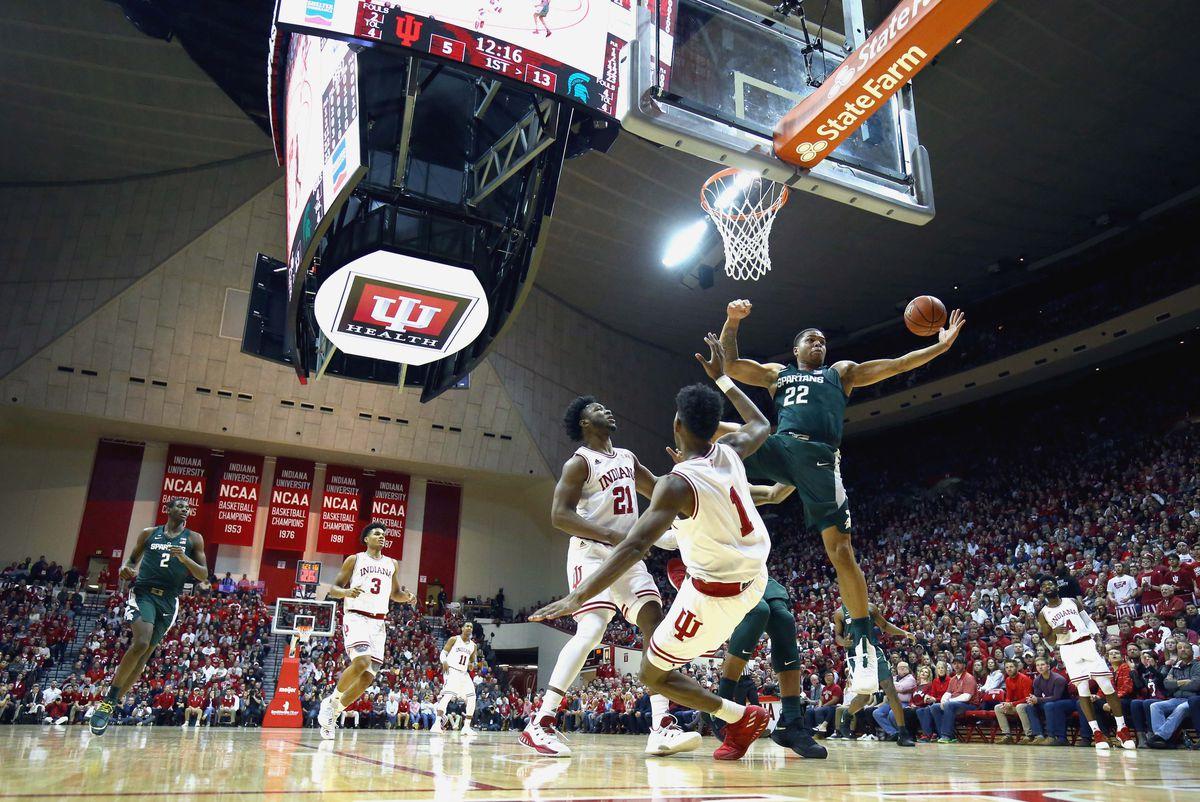 NCAA Basketball: Michigan State at Indiana