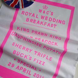Royal Wedding Breakfast Tea Towel