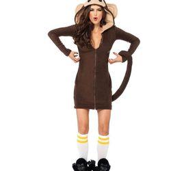 "Hooded monkey dress, <a href=""http://www.spirithalloween.com/product/la-monkey-hooded-dress-medium/"">$50</a>"
