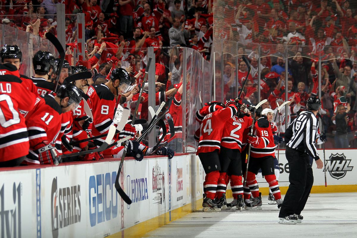 Do it because this is a great scene of happiness and joy and so should be re-created as much as possible.  (Photo by Bruce Bennett/Getty Images)