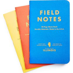 """Field Notes <a href=""""http://shop.nordstrom.com/s/field-notes-county-fair-memo-books-3-pack/3783433?"""">Memo Three-Pack</a>, $9.95"""