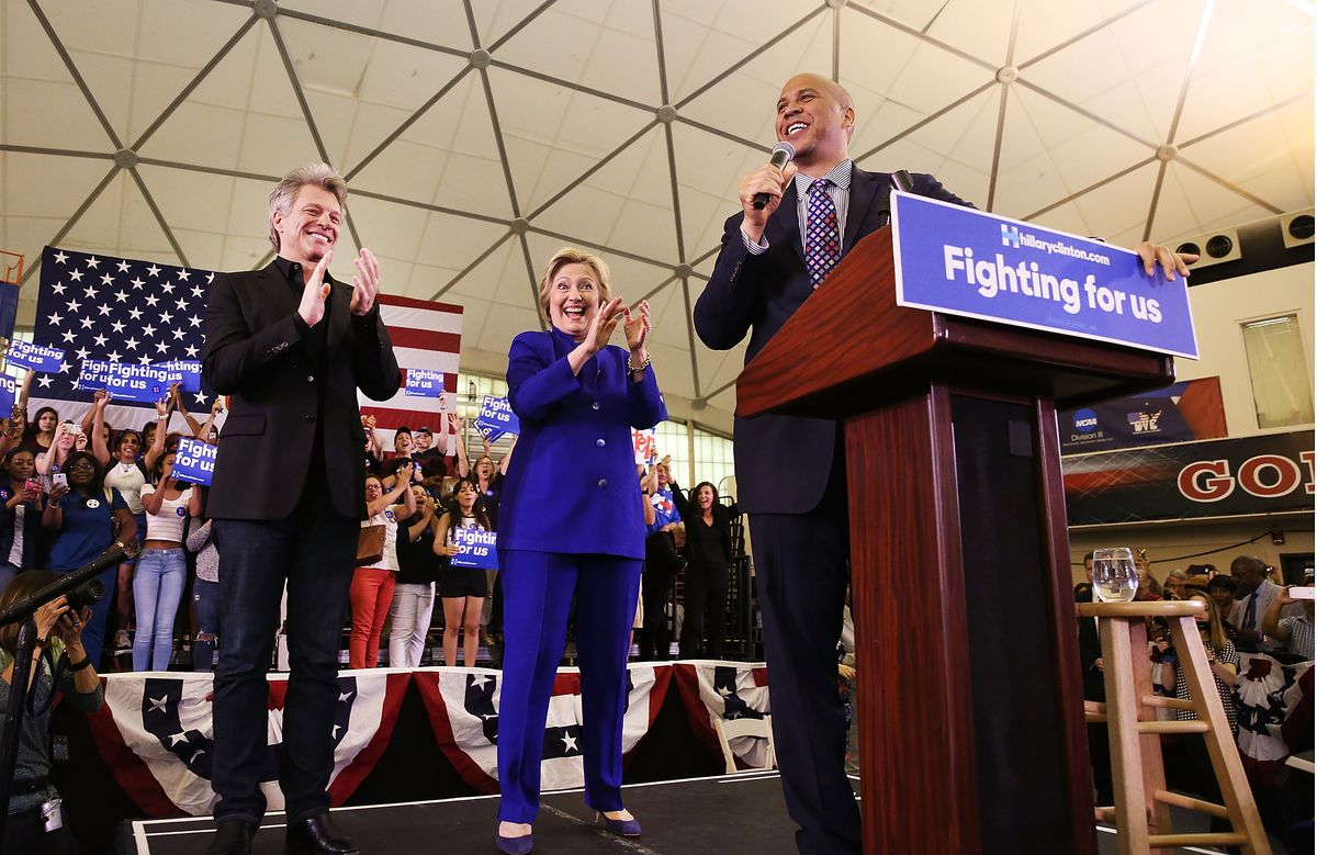 Democratic Presidential Candidate Hillary Clinton Holds Campaign Event In New Jersey With Jon BonJovi