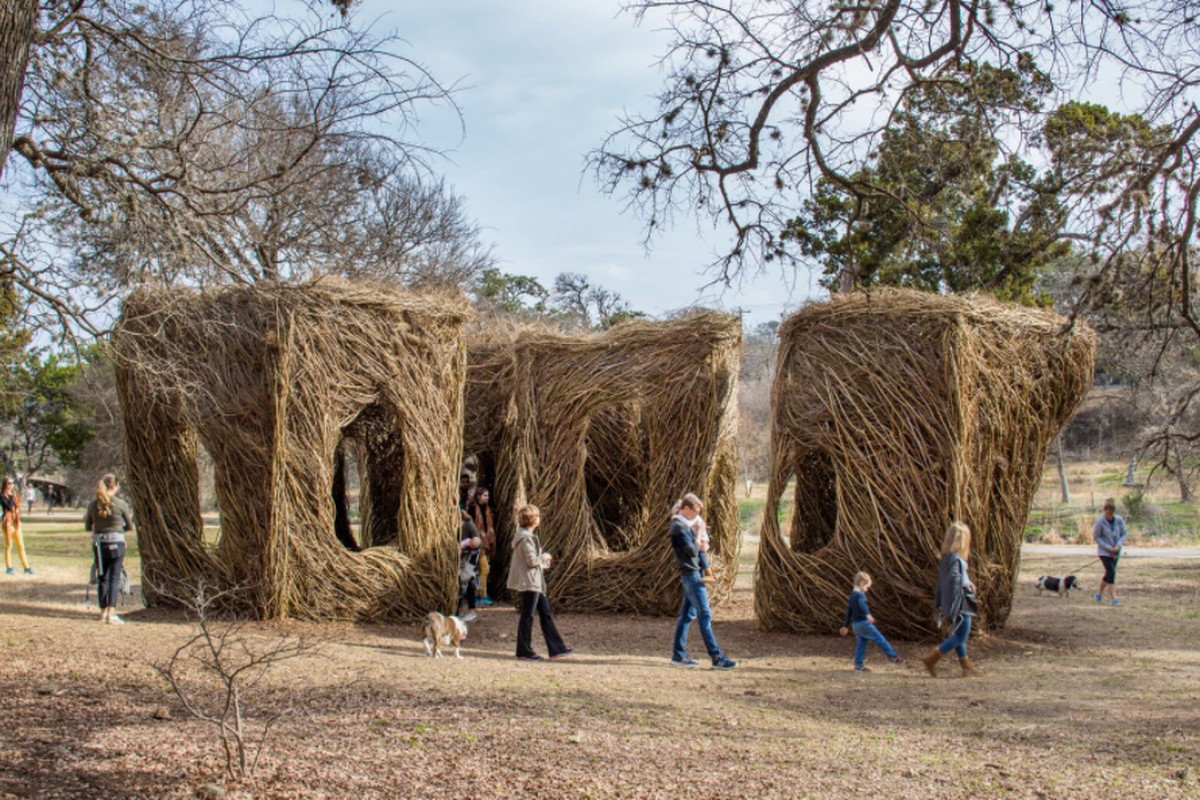 Patrick Dougherty S Stickwork Installation Opens In Austin