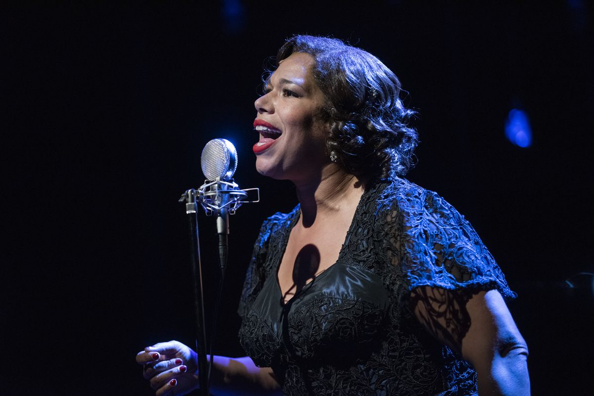 """Bethany Thomas stars in """"Songs For Nobodies"""" at Northlight Theatre. credit Michael Brosilow"""