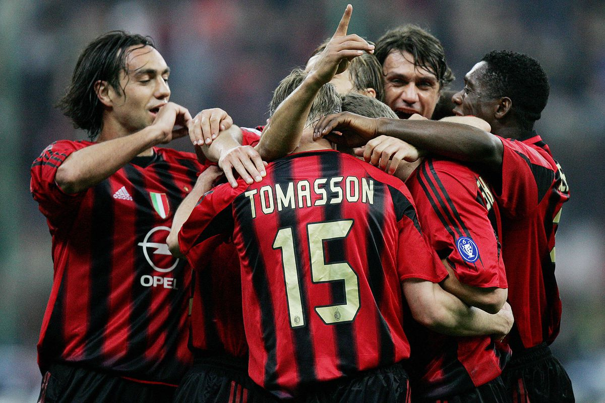 AC Milan's Brazilian defender Caf is con