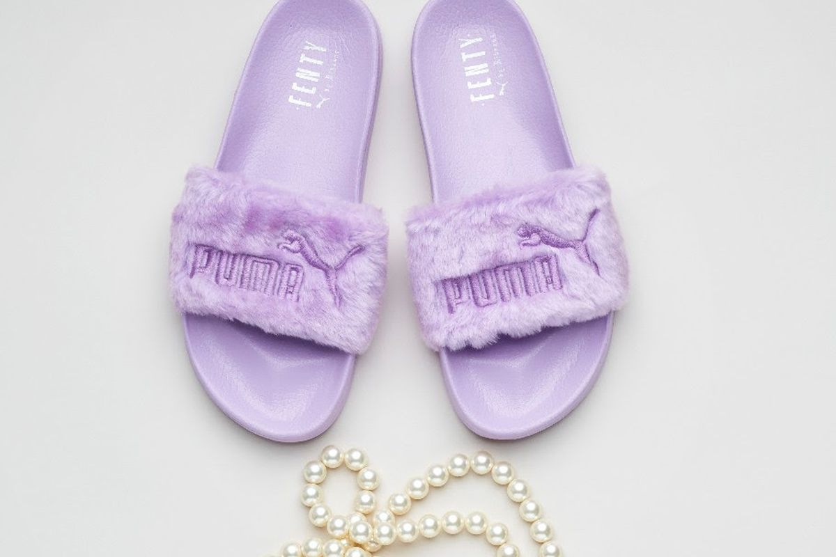 promo code 01673 4c4b1 Where to Buy Rihanna's Fenty Puma Fur Slides - Racked