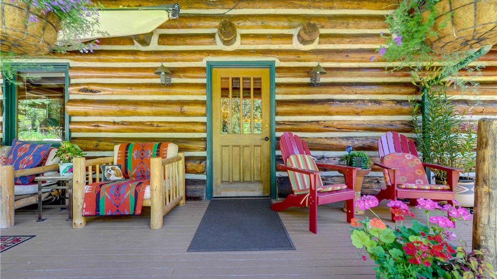 dramatic log home in carnation is built from local pine