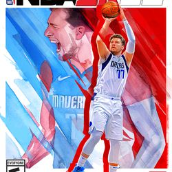 The Standard Edition of <em>NBA 2K22</em> features Luka Dončić draped in the colors of his native Slovenia's flag.