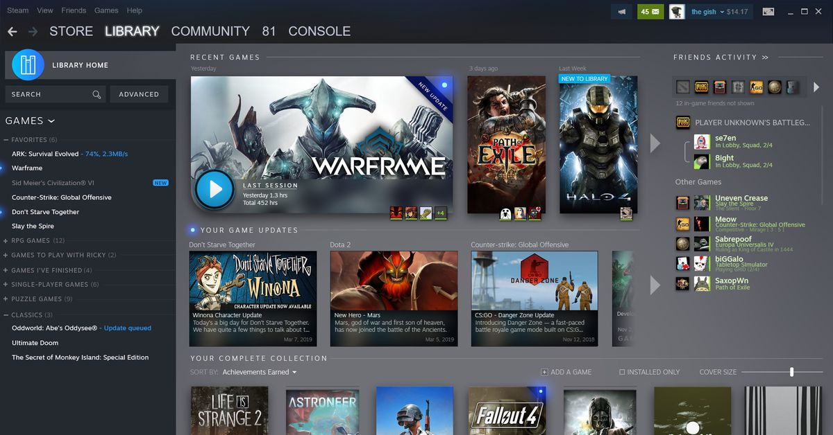 Valve redesigns Steam game library, adding Steam Events - Polygon