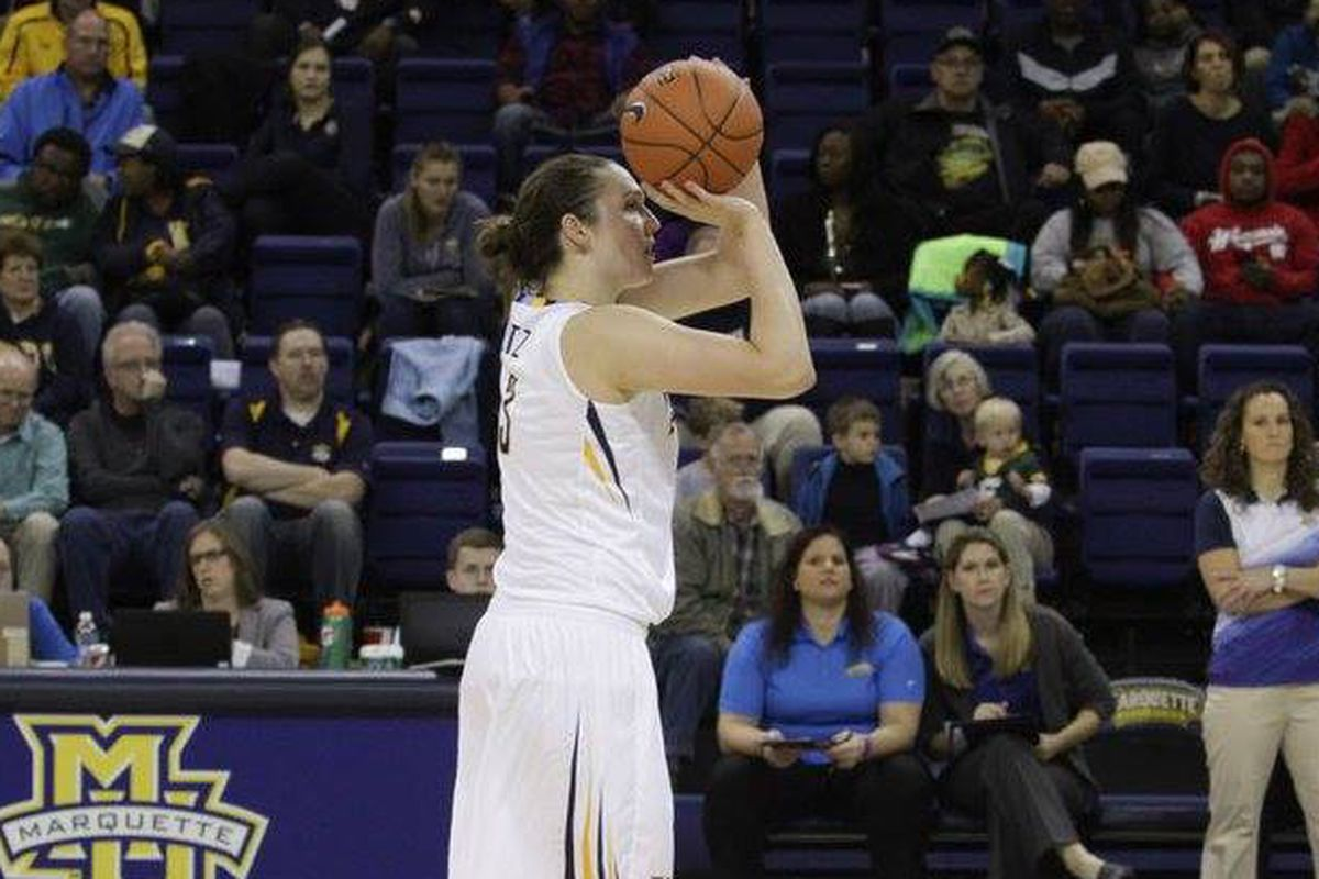 McKayla Yentz's three point shooting was the highlight for Marquette's offense against UWGB.