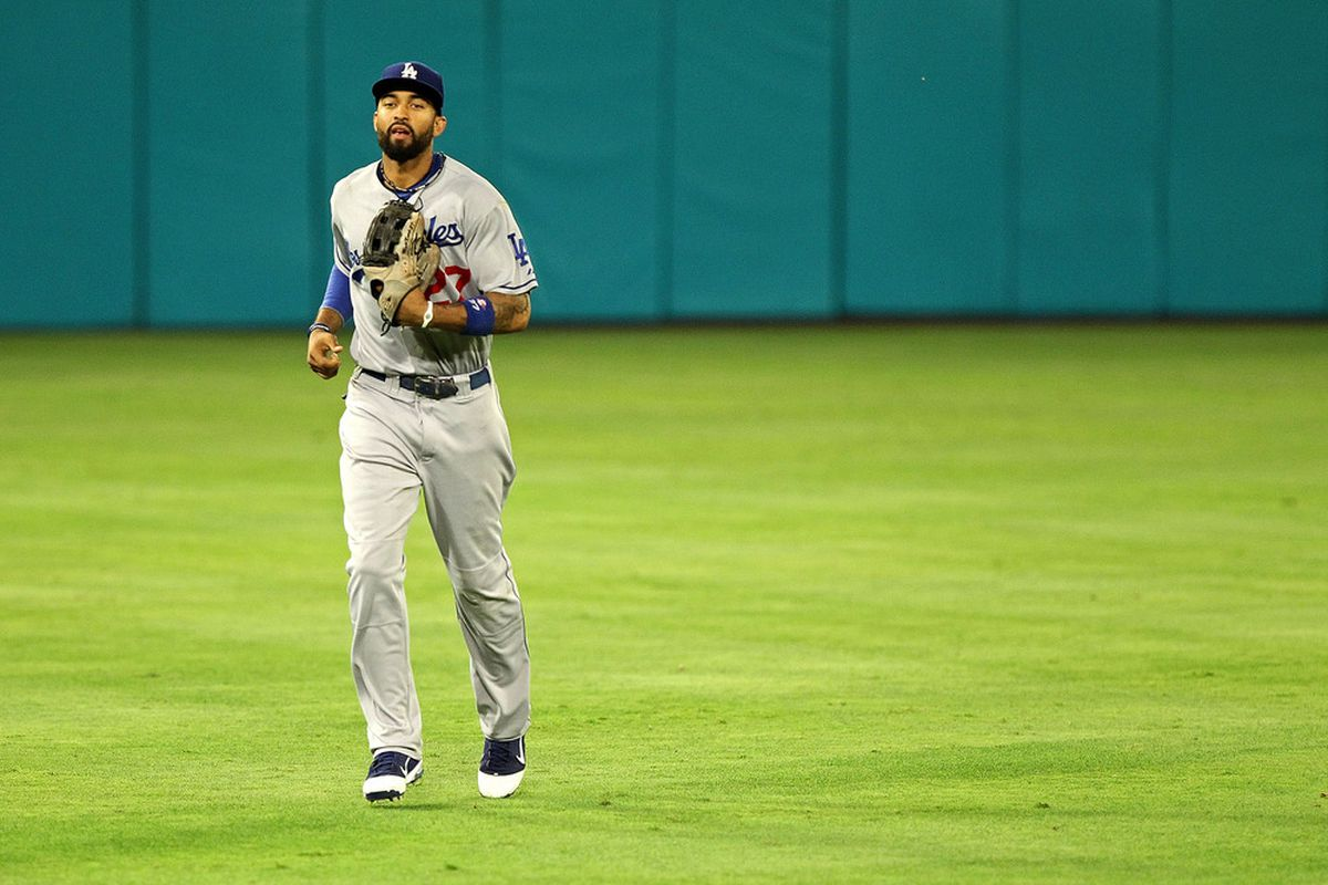 MIAMI GARDENS, FL - APRIL 26:  Matt Kemp #27 of the Los Angeles Dodgers walks to the dugout during a game against the Florida Marlins at Sun Life Stadium on April 26, 2011 in Miami Gardens, Florida.  (Photo by Mike Ehrmann/Getty Images)