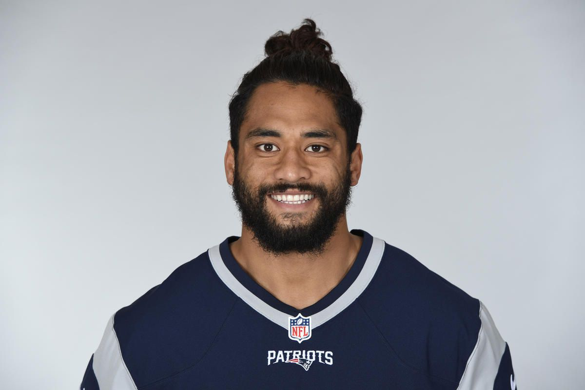 This is a 2017 photo of Harvey Langi of the New England Patriots NFL football team. This image reflects the New England Patriots active roster as of Monday, June 5, 2017 when this image was taken. (AP Photo)