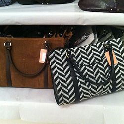 Juliette handbags in both embossed-python and chevron styles