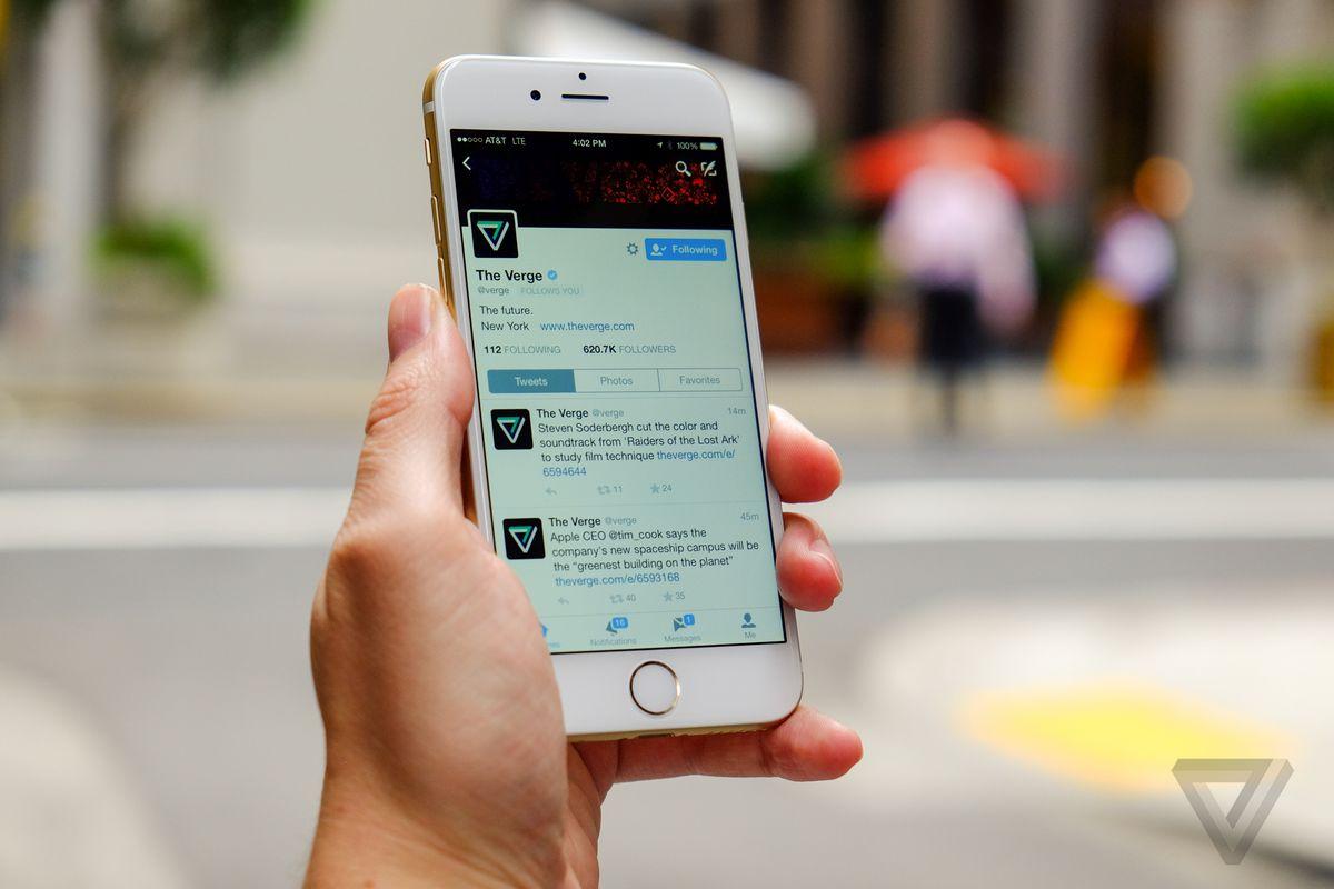 Twitter on iOS 8, iPhone 6 (stock)