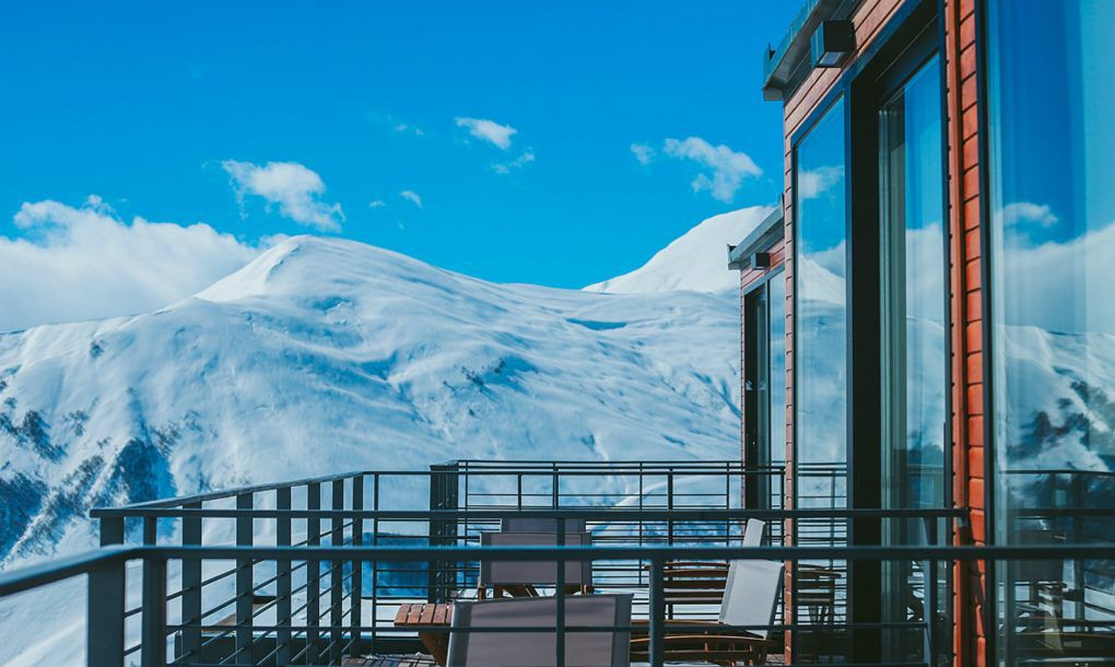 Shipping Containers Stack Up Into Striking Ski Resort
