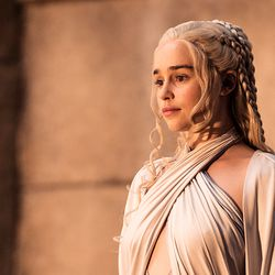 Season 5: Daenerys really starts to lose it this season, but you can't tell from her hair.