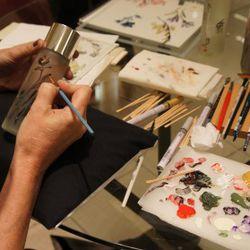 Engraving bottles by Shu Uemura
