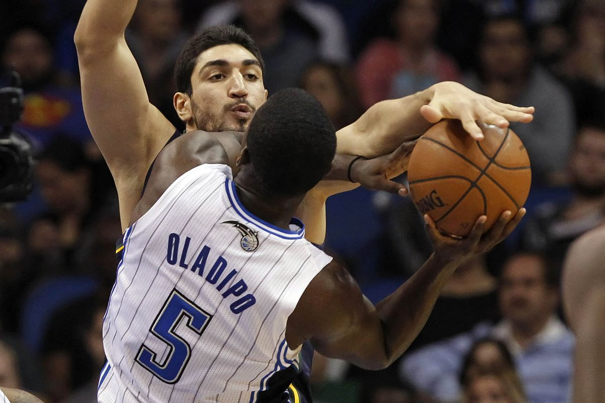 Enes Kanter and Victor Oladipo