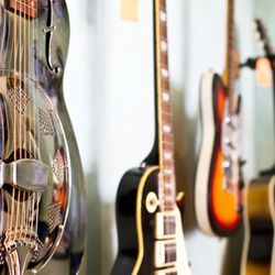 The store has sold seven guitars since it opened.