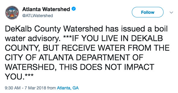Doraville Water Main Break Temporarily Closes Some Restaurants