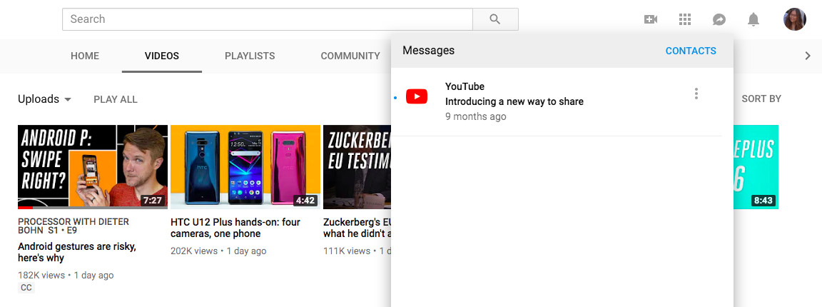 YouTube brings its messaging feature to the web - The Verge