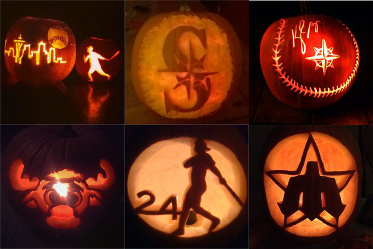 There are some very talented pumpkin carvers in the M's fanbase.