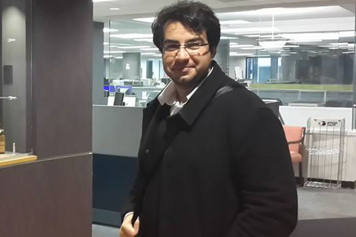 Bassem Sabry visiting the Washington Post offices.