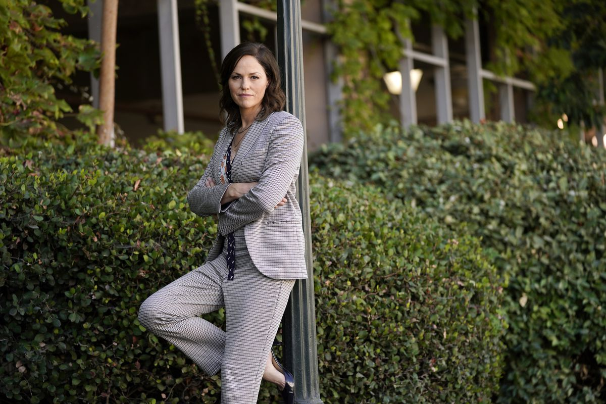 """Actress Jorja Fox says fans will see """"a lighter version of Sara Sidle than we've ever seen before,""""  on the new limited series """"CSI: Vegas."""""""