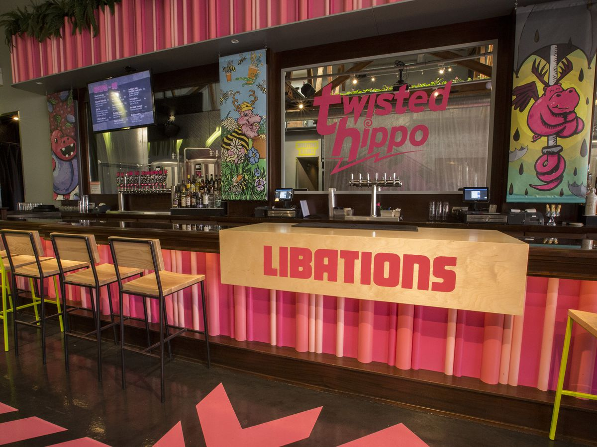 bar at the Twisted Hippo