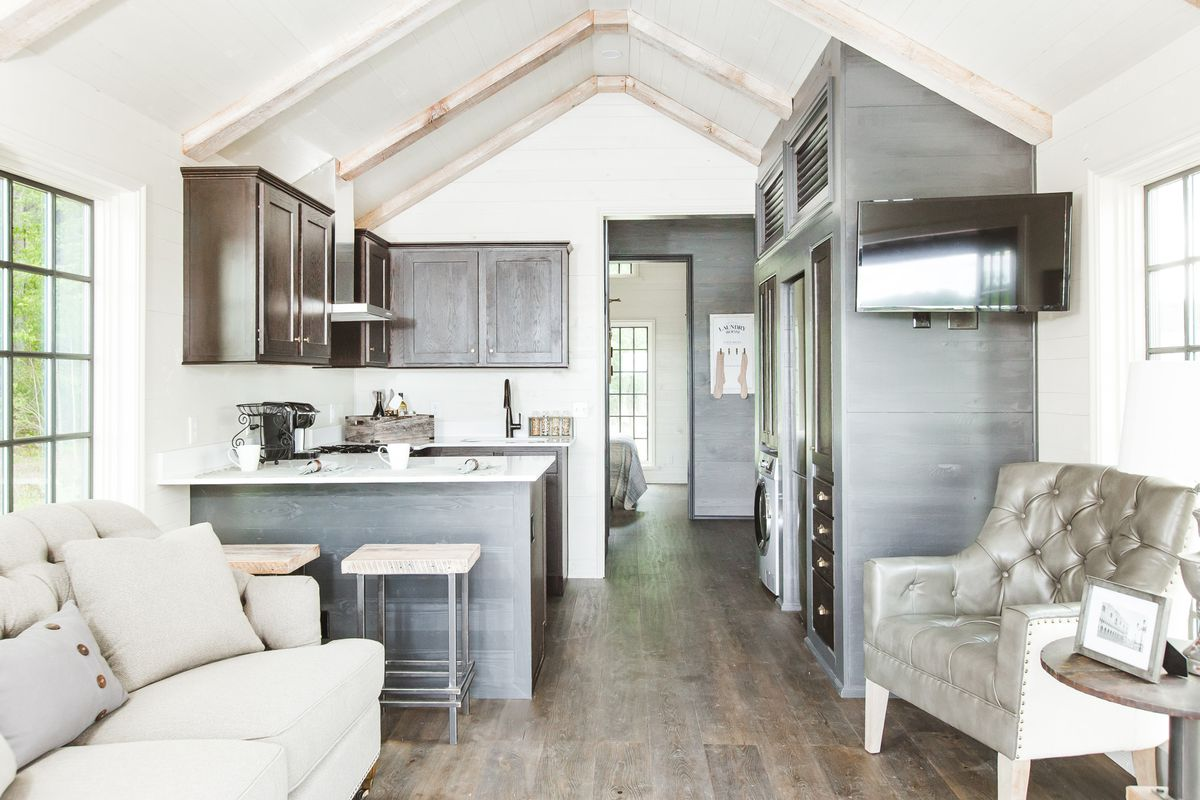 inside of one of the designer tiny houses clayton tiny homes - Tiny Dwellings