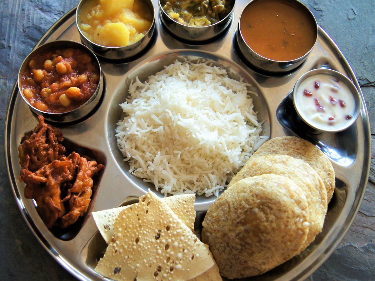 A daily thali platter special can always be ordered from Marietta Indian restaurant Vatica on Terrell Mill Road.