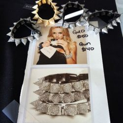 CC Skye's pave spike bracelets are normally $350 each, but you can score the gold for $150 and gunmetal for $140 here.