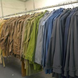 Rainbow of overcoats, starting at $239 and topping out at $699