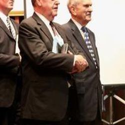 Elder Russell M. Nelson, right, and Elder Jeffery R. Holland preside at meeting in Mexico where they announced a new Mexico City Missionary Training Center.