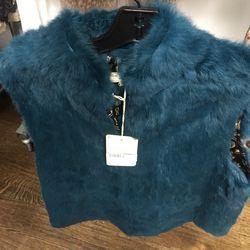 Fur vest, $150
