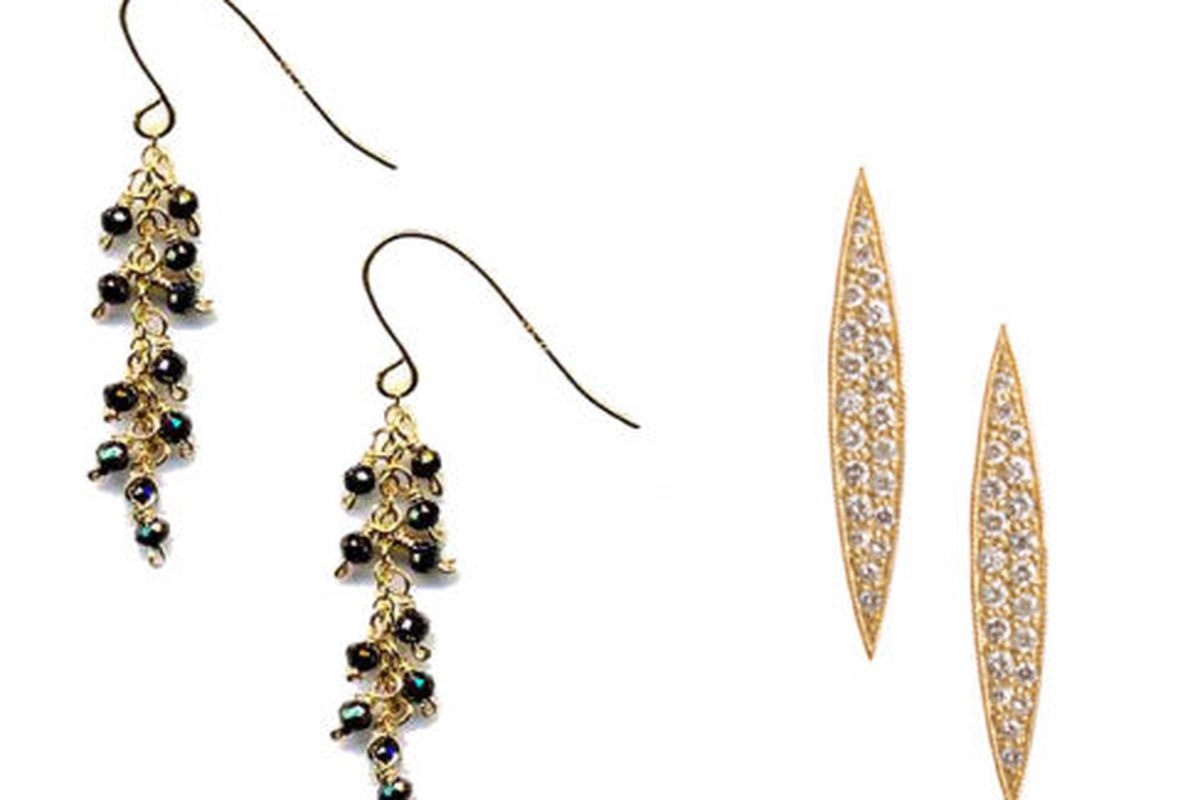 Maya Brenner Twilight earrings and pave studs
