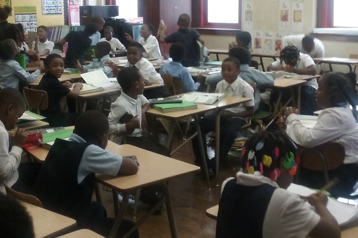 Parents at Detroit's Paul Robeson Malcolm X Academy say a teacher shortage is to blame for the 42 kids in a second-grade class.