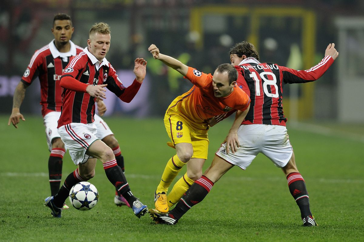 Iniesta was brilliant as usual, but never really threatened the Milan goal.
