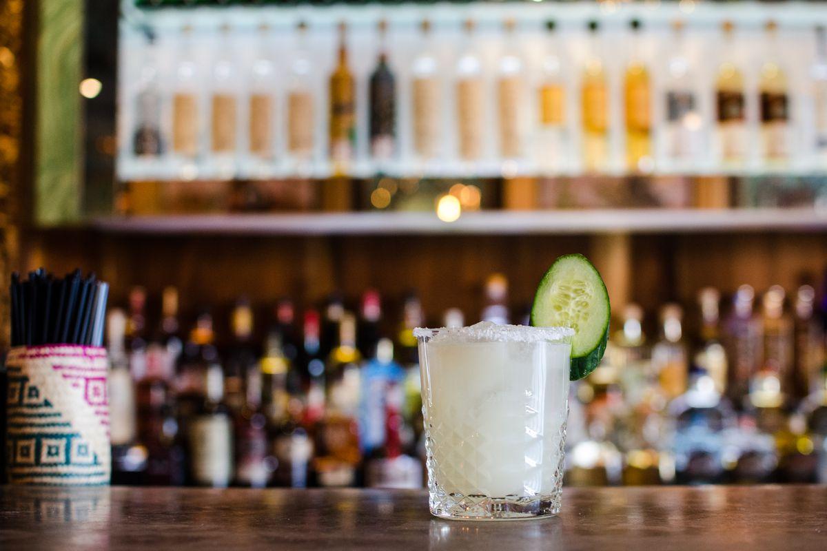 A cocktail at Burro Bar Brookline