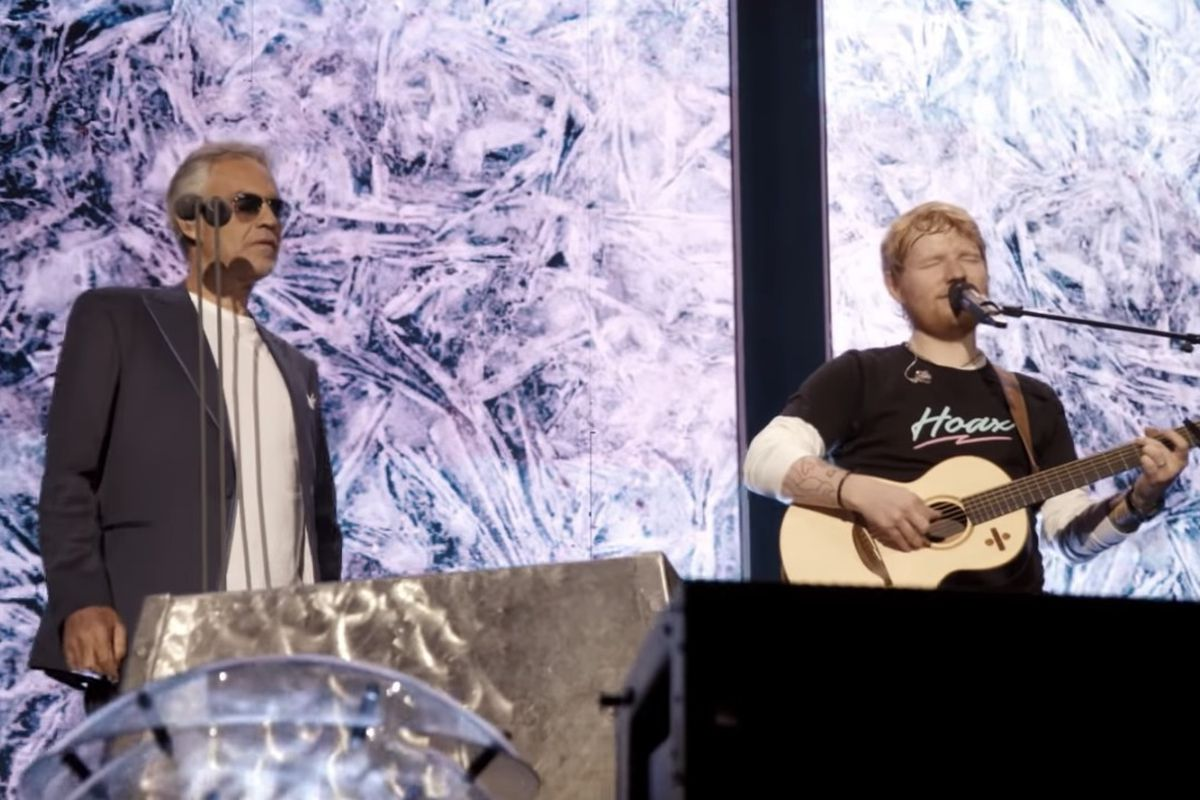 The Clean Cut: Watch Ed Sheeran and Andrea Bocelli sing