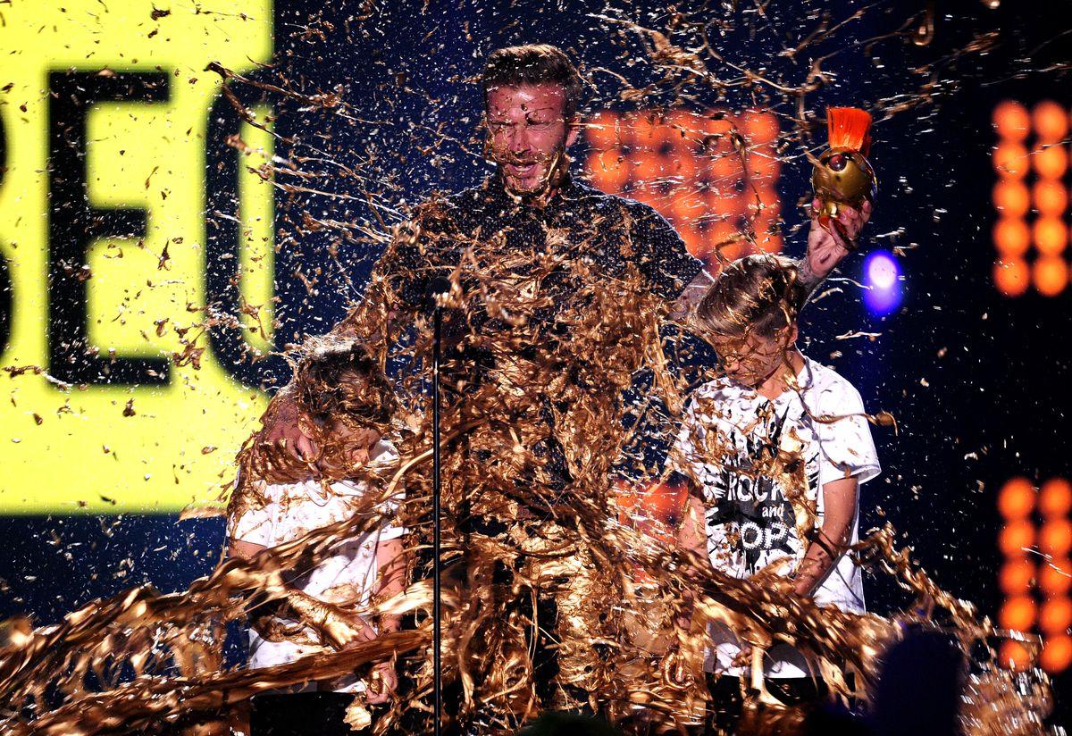 David Beckham, slimed