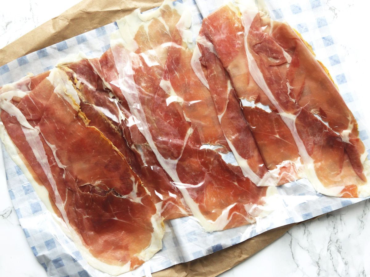 Sliced prosciutto at Antonio Delicatessen, one of the best places to eat in Lewisham