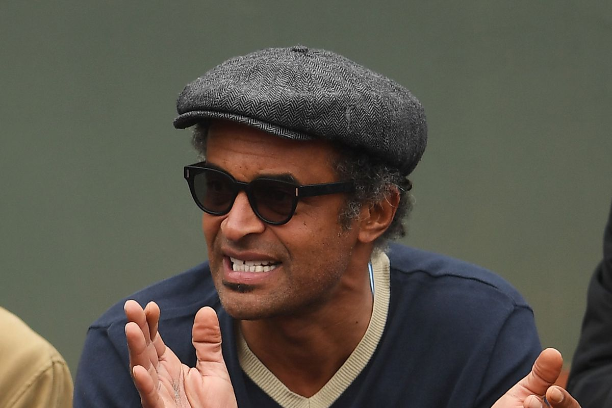 Tennis legend Yannick Noah is hyped to watch his son Joakim play
