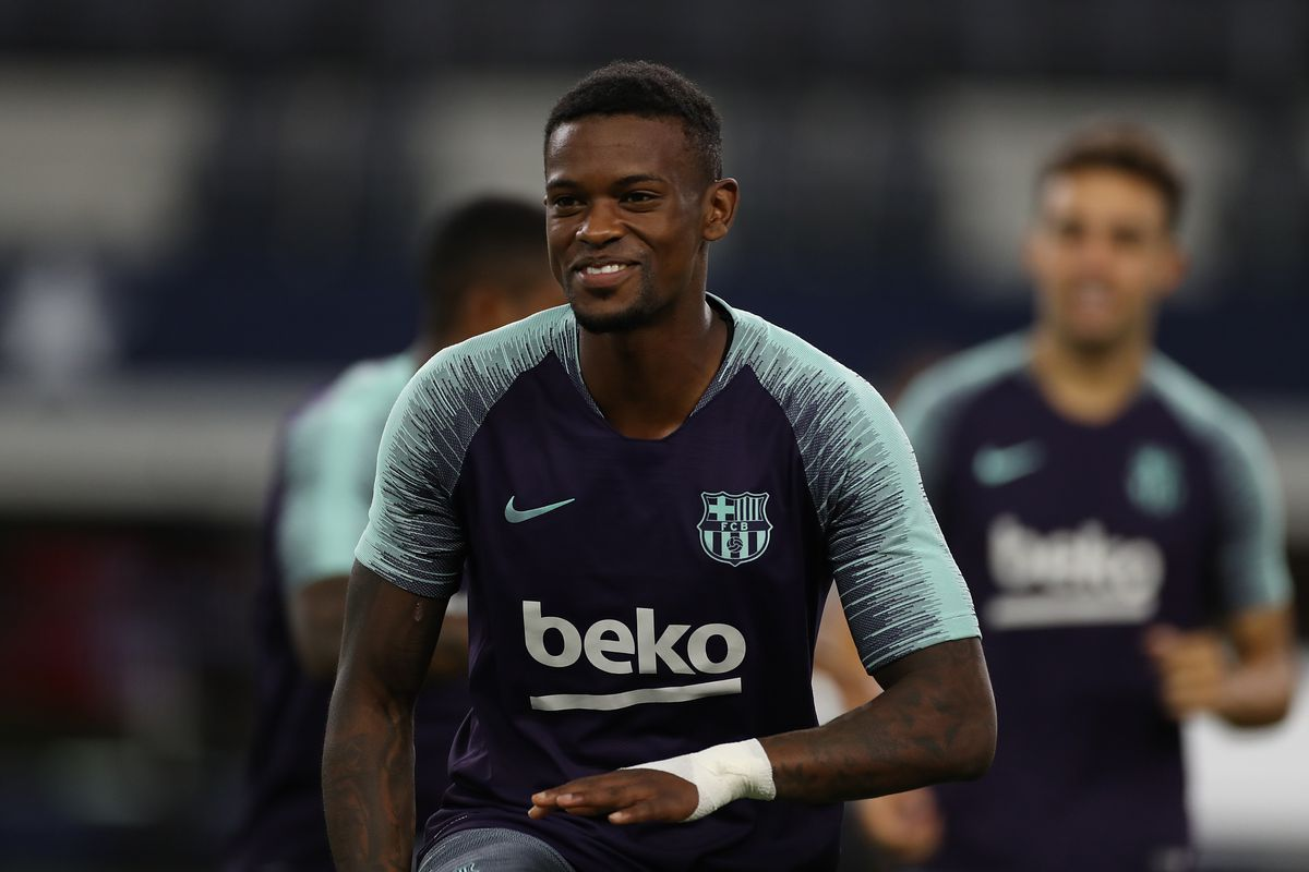 Nelson Semedo trains with Barcelona after injury scare