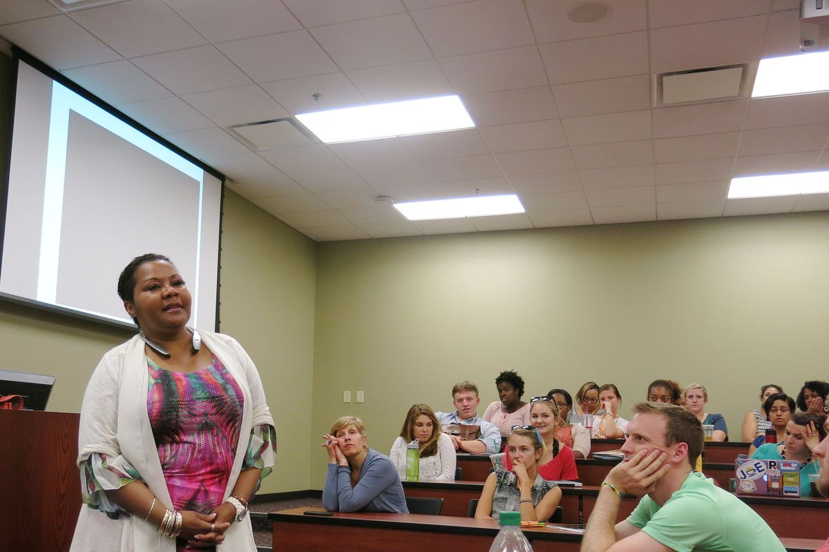 Vanderbilt University professor Donna Ford lectured incoming Teach for America recruits in Nashville about how to address race and culturein their classrooms.