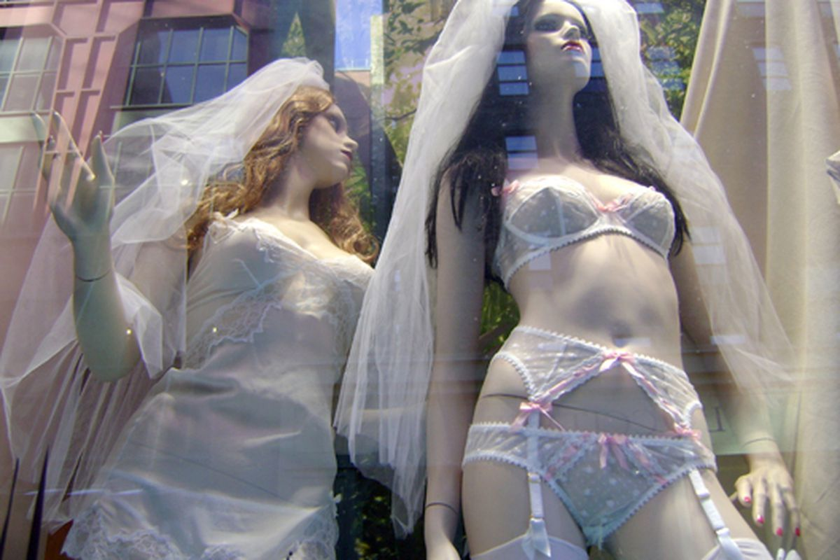 In the window at Agent Provocateur in New York