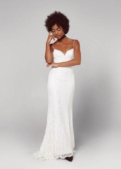 Where to buy affordable wedding dresses racked model in white wedding dress junglespirit Gallery
